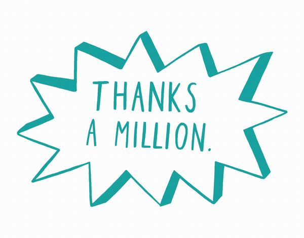 Doodle Thanks A Million Card
