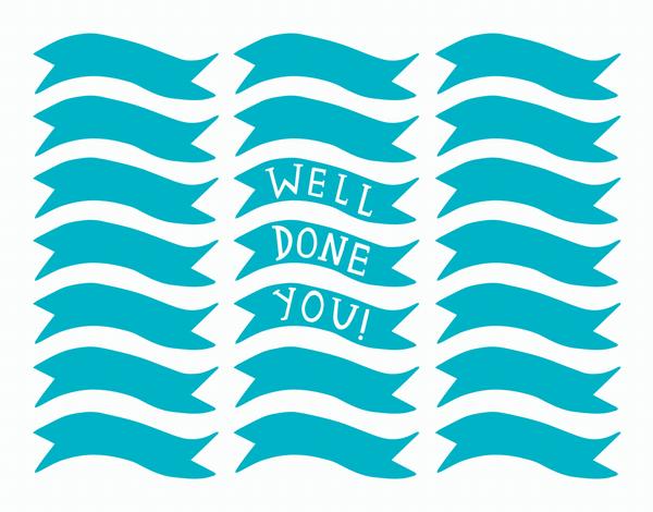 Turquiose Banner Congratulations Card