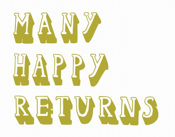 Typography Birthday Card