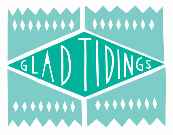 Geometic Glad Tidings Card