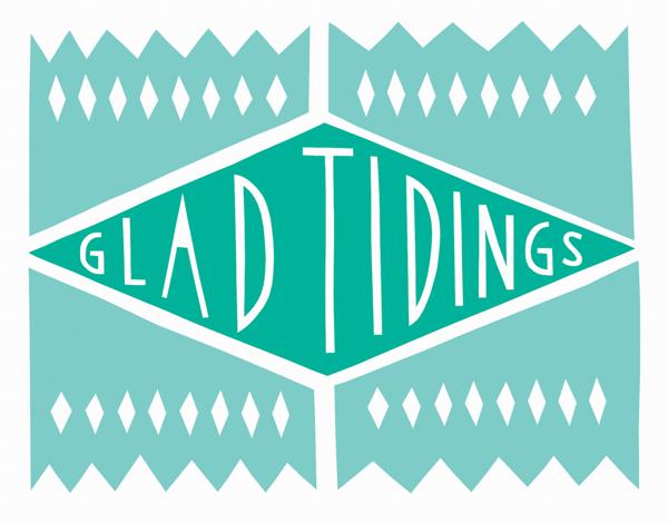 Geometic Glad Tidings Card