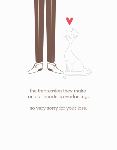 charming Cat Sympathy Card