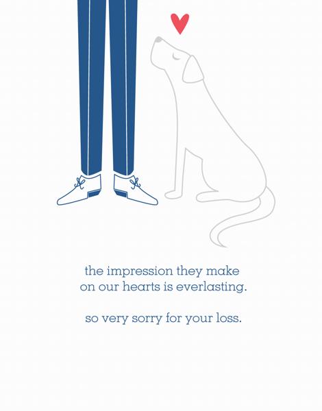 charming Dog Sympathy Card