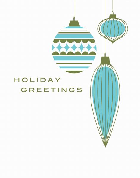 Christmas Ornaments Holiday Card