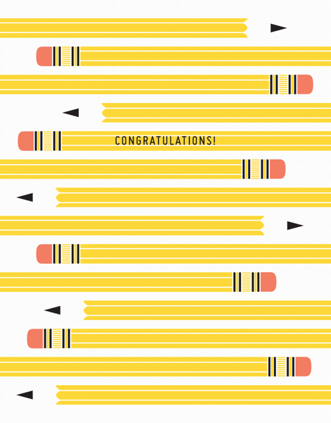 Pencil Graduation Congratulations Card