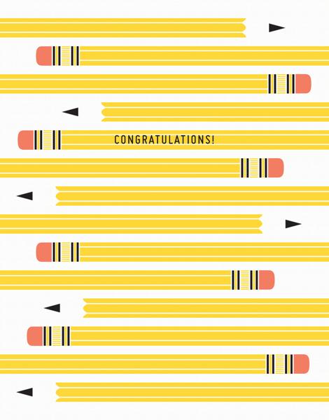 Pencil Graduation Congratulations Card