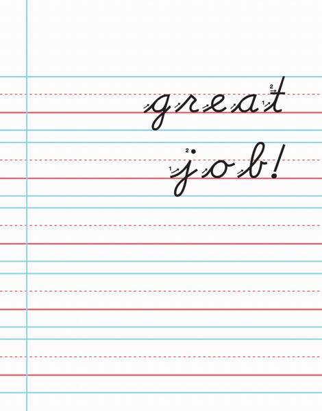 Lined Paper School Congrats Card