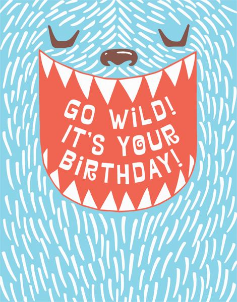 Cute Monster Birthday Card