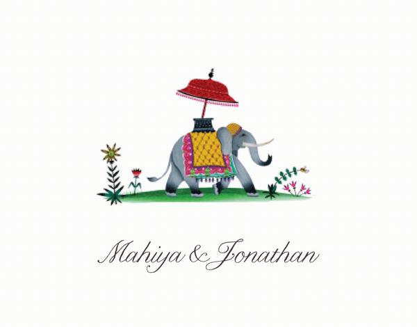 Cursive Jaipur Thank You Card