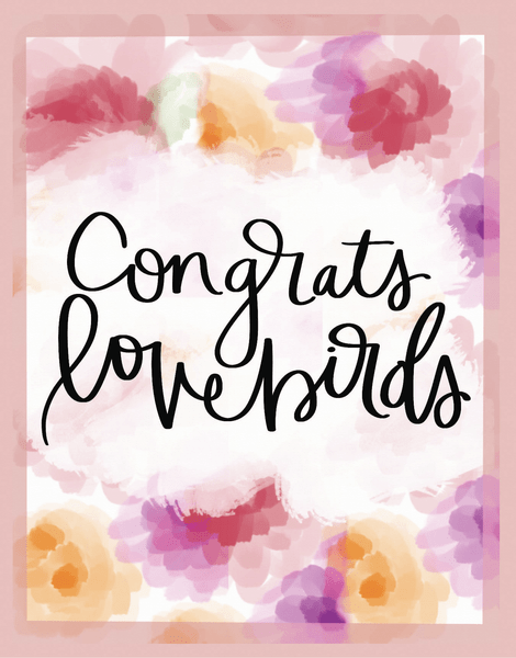 Congrats Lovebirds