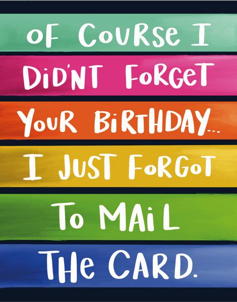 Forgot Birthday