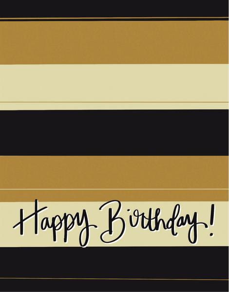 Birthday Stripes