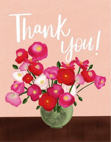 Floral Vase Thanks