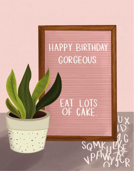 Letterboard Birthday
