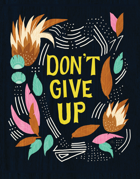Earthy Don't Give Up Card