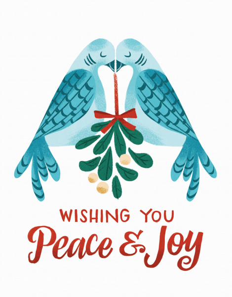 bright wishes you peace and joy greeting card