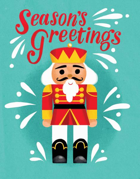 Season's Greetings Nutcracker