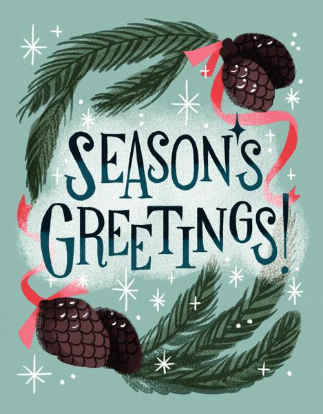 Seasonal Pinecones