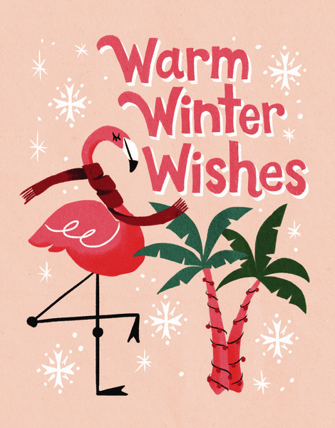 Flamingo Winter Wishes