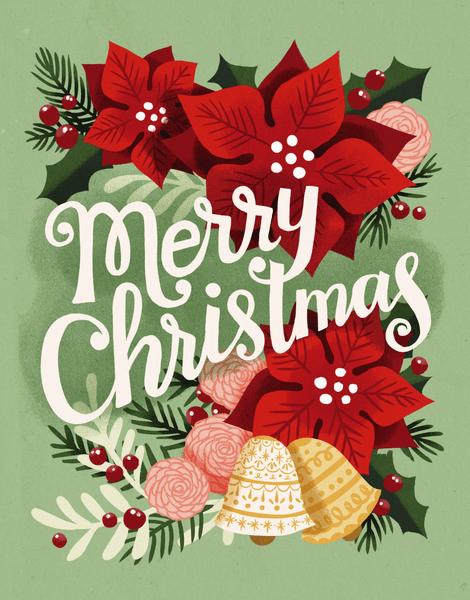 Merry Christmas Poinsettia