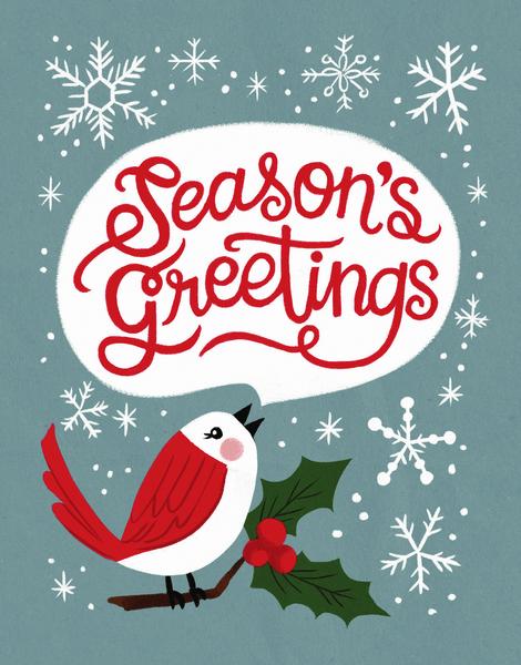 Season's Greetings Robin