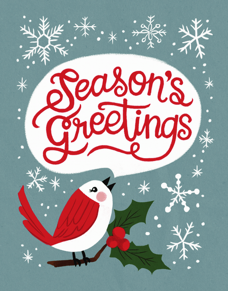 Season's Greetings Robin