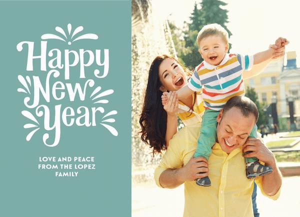 Happy New Year Flourish