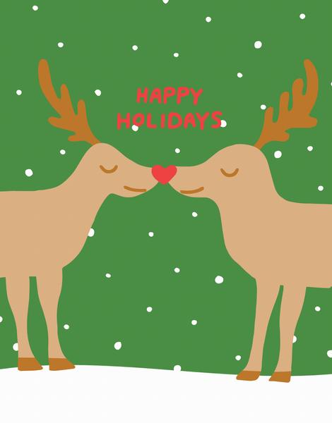 Kissing Reindeer