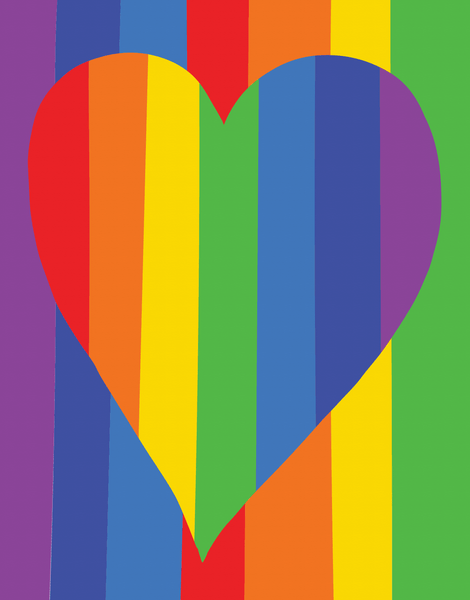Rainbow Heart Love