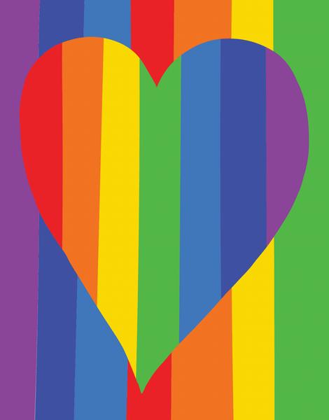 Rainbow Heart Love