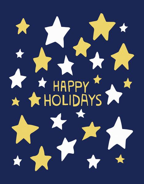 Happy Holidays Stars