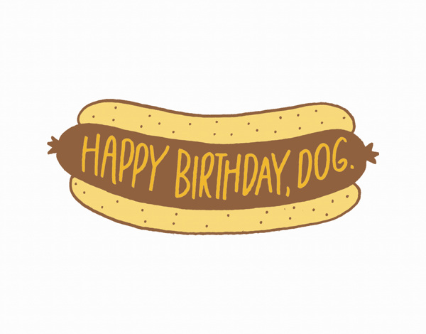Punny Happy Birthday Dog Card
