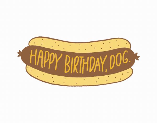 Punny Happy Birthday Dog Card