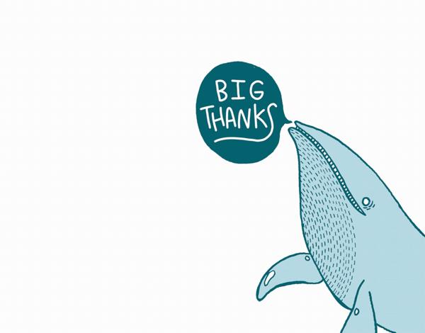 Cute Big Thanks Card