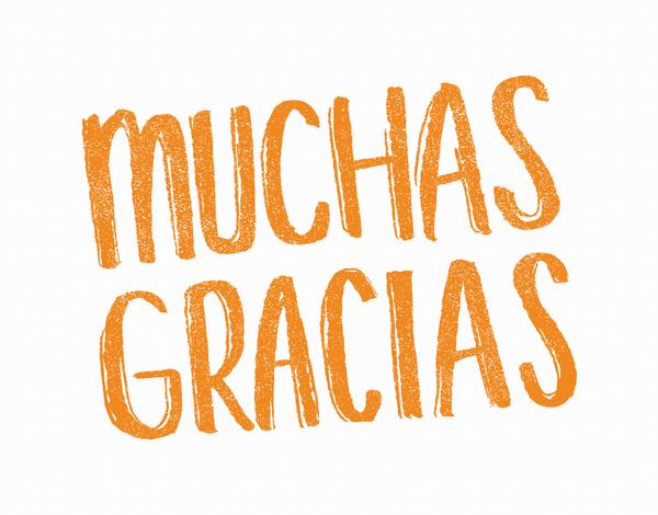 Bold Muchas Gracias Thank You Card