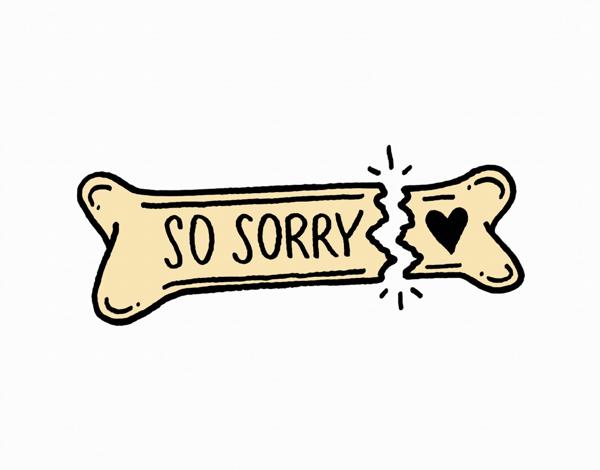 Broken Bone Sorry Card