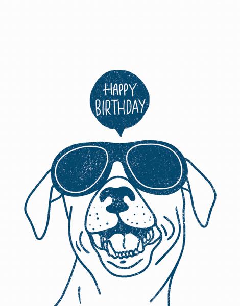 Playful Dog Birthday Card