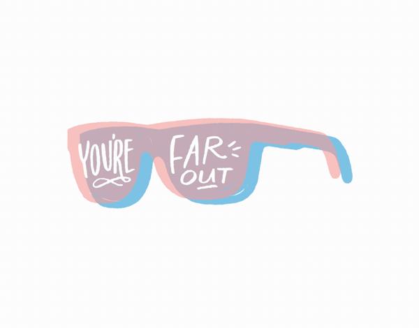 Painted Sunglasses Friend Card