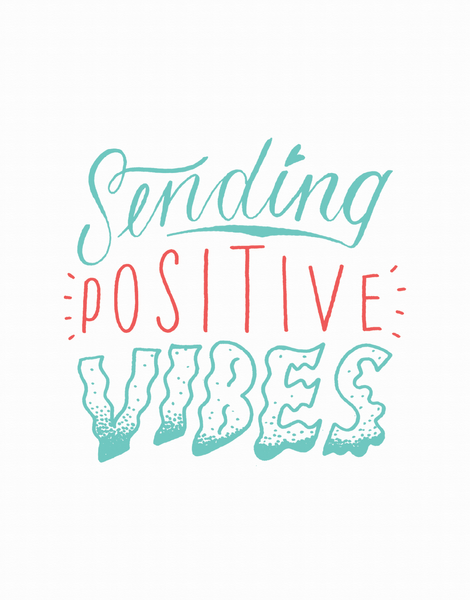 Sending Positive Vibes Good Luck Card