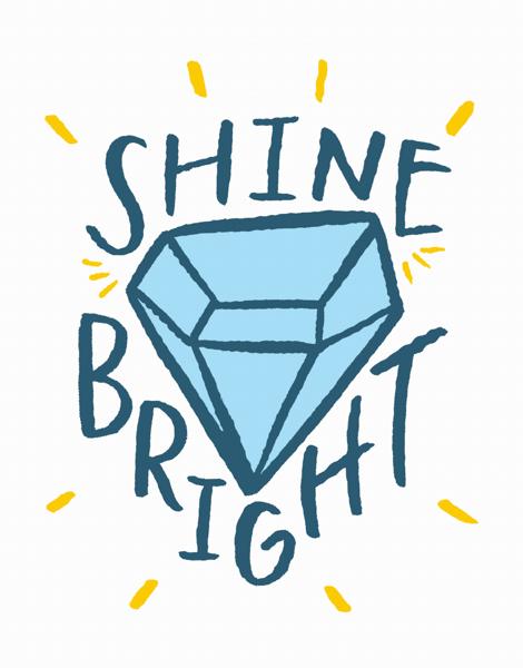 Stylish Shine Bright Congrats Card