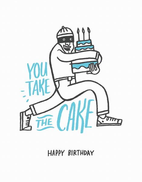 Hand Drawn Pun Birthday Card