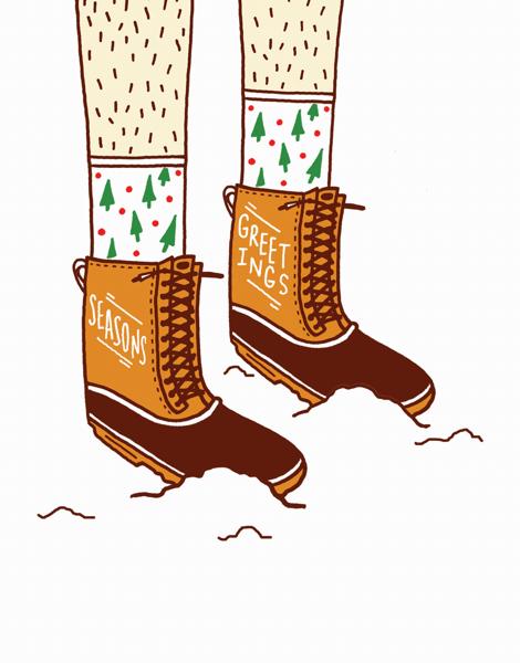 Season's Greetings Boots