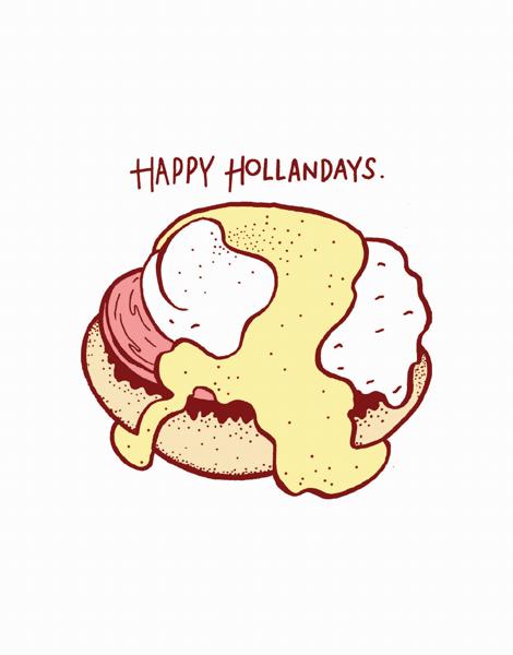 punny happy holidays greeting card