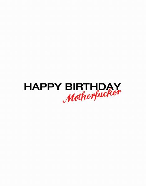 Happy Birthday M'Fer