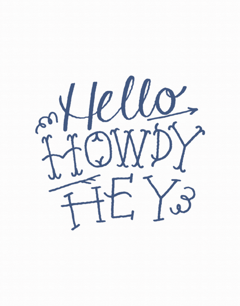 Hello Howdy Hey