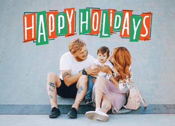 Happy Holidays Retro