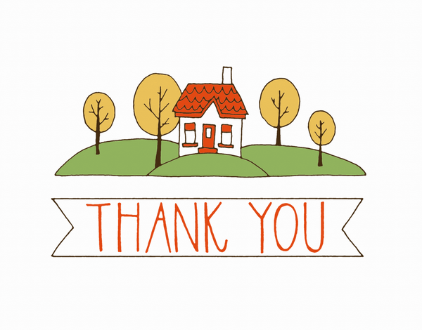 House on Hill Thank You Card