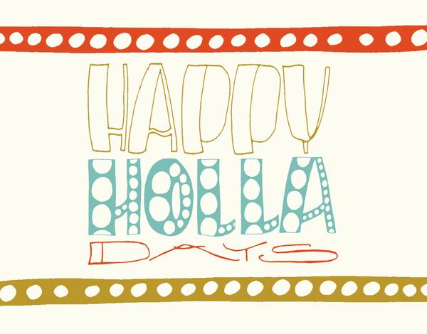 Funny Bright Holiday Card