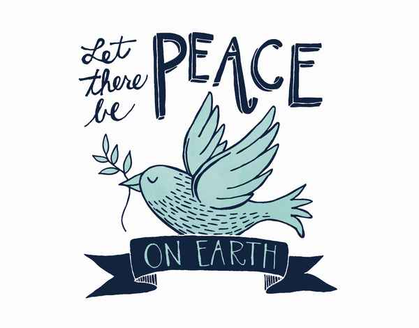 Blue Bird Peace On Earth Card