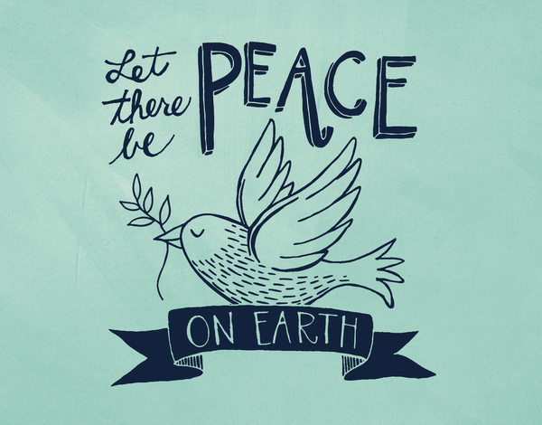Peace On Earth Banner Holiday Card